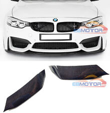 Real Carbon Fiber Front Bumper Inserts For BMW F80 M3 F82 F83 M4 2014UP B404