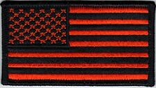 Orange & Black American Flag Patch 3 1/2 x 2 100% Embroidered New Free Shipping