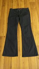'12 *Banana Republic Limited Ed* Wmn's 2 Dk Blue Low Stretch 4 Pkt Flare Jeans