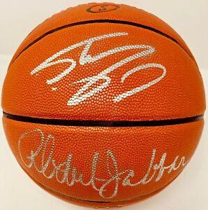 Kareem Abdul-Jabbar + Shaquille O'Neal Shaq Signed Basketball Fanatics A788072