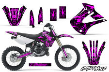 Dirt Bike Graphics Kit Decal Sticker Wrap For Kawasaki KX85 KX100 01-13 NW PINK