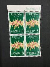 MOMEN: ANDORRA CEPT # 1972 MINT OG NH $600 BLOCK LOT #4064