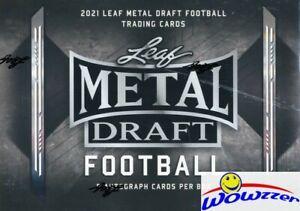 2021 Leaf METAL Draft Football Factory Sealed HOBBY Box-5 AUTOGRAPH ROOKIES!