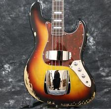 Starshine Top Qaulity  Relic Electric J Bass Guitar Sunburst Color Maple Neck