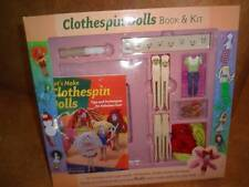 Clothespin Dolls Book & Kit Set Make Your Own Playset Ages 8+ Childrens Craft