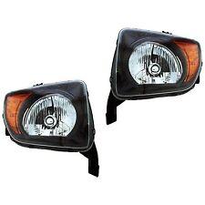 HOLIDAY RAMBLER NEPTUNE 2007 2008 PAIR BLACK HEADLIGHTS HEAD LIGHTS LAMPS RV