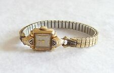 Vintage Art Deco Gold Filled Bulova Womens Watch