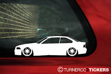 2x LOW BMW e36 m3 /325i/ 328/ 318is coupe Stickers Decals  with M Parallel wheel