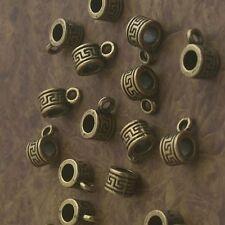 30pcs antiqued bronze color bail charms beads h2000-B