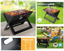 Grillz Portable Charcoal BBQ Tabletop Grill - Black
