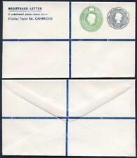 RSP9 QEII 1/3 and KGVI 1 1/2d Stamped to Order Registered Envelope 4.5 x 6.5 in