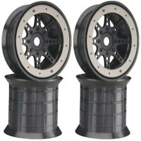 New Axial Savage T-Maxx Revo 40 Series 8-Spoke Oversize Beadlock Wheels (4) A...