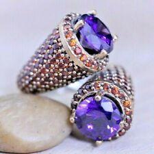 925 Sterling Silver Handmade Antique Turkish Amethyst Ladies Ring Size 6-12