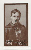 1894 N302 Mayo Cut Plug Football Reprint - A.M. Beale - Harvard Crimson