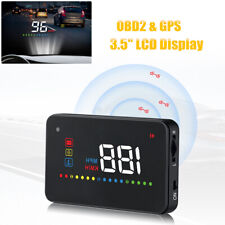 HUD Display Dual Mode OBD2/GPS Windshield Projector w/Speed Water Temperature