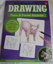 DRAWING FARM & FOREST ANIMALS WALTER FOSTER JR. INCLUDES FUN FACTS AND FANTASTIC