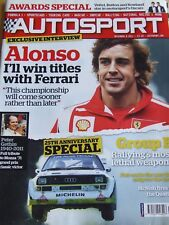 AUTOSPORT MAGAZINE DEC 2011 ALONSO AWARDS SPECIAL GROUP B RALLYING PETER GETHIN
