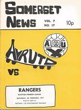 Football Programme - Ayr United v Rangers - SPL - 5/2/1977