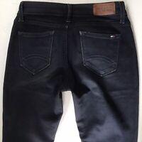 Ladies TOMMY HILFIGER NATALIE SKINNY 7/8 Crop NAVY BLUE Jeans W26 L32 (782e)