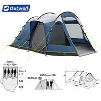 Outwell Nevada 4 Zelt blau Familienzelt Campingzelt 485 x 300 x 200 cm