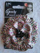 Goody Large Flower Glitter Metal Sectioning Hair Clip Jewelry Accessory Safe Pin