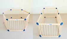 Kiddy Cots Link 70 Wooden Baby Playpen - Brown