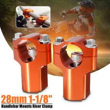 2pcs HandleBar Bar 28mm Mounts Clamp Riser 52mm For KTM 125-530cc SX/EXC 06-16