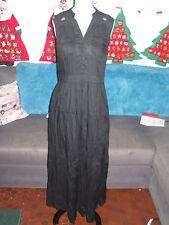 Robe longue noire chemise femme KOOKAI taille 36