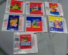 1980s Football Wax Pack Wrappers (7), Topps & Fleer