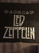 Vintage Led Zeppelin Tapestry 1980s Original Rock Wall Art 44x44 Rare