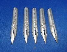 5 x Dip Pen Nibs - C. Brandauer Birmingham Mail Pen No 139 Vintage Rose logo