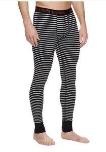 NWT Polo Ralph Lauren. Men´s. Sz M. Knit Long Jonh Pants, Black. MSRP $36.50