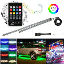 4pcs 8 Colors RGB LED Strip Under Car Tube Underglow Underbody System Neon Light