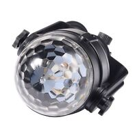 12V 6W Round Colorful LED Car Disco DJ Stage Lighting Flashing Lamp Music Active
