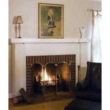 UniFlame 4 Panel Brass Filigree Fireplace Screen