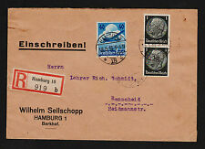 OPC 1936 Germany Hamburg to Remscheid Registered with Advertising seals