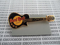 Hard Rock Cafe London - Black Les Paul Guitar with HRC Logo - Needle Pin