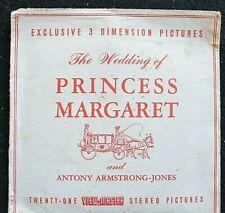 ORIGINAL VIEWMASTER - THE WEDDING OF PRINCESS MARGARET - 3 REELS C280    - RARE