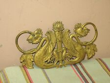"Vintage Ornate Gold Gilt Metal Wall Decor Art Deco 4.5"" x 7"""