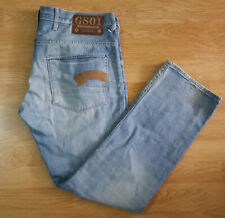 G Star Raw Jeans Denim GS01 Heller Low Straight Button Fly Blue Size W38 L32
