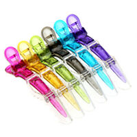 6Pcs Hairdressing Tools Crocodile Salon Hair Section Clips Claw Clamp Clips