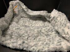 MEDIUM Pottery Barn Teen Fur GRAY Leopard Print BEANBAG COVER EASTER Gift NEW