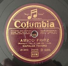 """RARE 78 RPM 10"""" MAFALDA FAVERO AMICO FRITZ MASCAGNI NON MI RESTA CHE IL PIANTO"""
