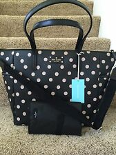 Brand New KATE SPADE BLK/ DCOBGE Adaira Wellesley Printed Diaper Bag