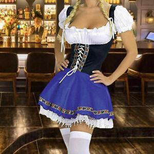 Oktoberfest Beer Girl Costume Womens German Bavarian Maid Fancy Dress