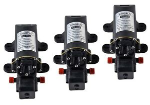 3 pack 12V Water Diaphragm Pump w Pressure Switch 1 GPM Replace Jabsco & SEAFLO