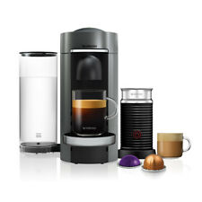 Nespresso Vertuo Plus Deluxe Titan Flat Top and Aeroccino3 Coffee Machine