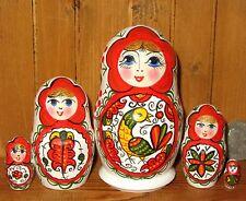 Russian nesting doll small MATT 5 Severodvinsk North-Dvina style Babushka signed