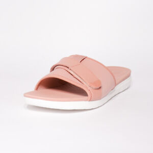 Womens Fitflop Neoflex Dusty Pink Mix Slide Sandals (TGF30) RRP £44.99