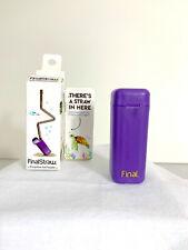 Final Straw Folding Straw ~ Porpoise-Ful Purple ~ Brand New In Box~ Reduce Waste